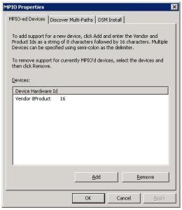 MPIO Proprties Dialogbox
