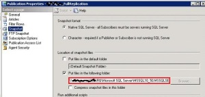 @SQLCAN: Replication Configuration Issue - Setup Screen