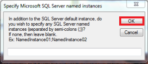 PAL - Instance Name Dialog Box